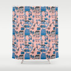 Pattern Project #17 / Bird Life Shower Curtain