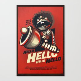 HELLO! HELLO! (red) Canvas Print