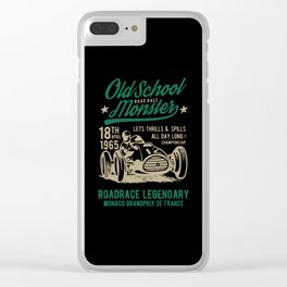 old school road race monster Clear iPhone Case
