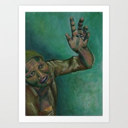 Dim, through the misty panesand thick green light,  As under a green sea, I saw him drowning.  Art Print