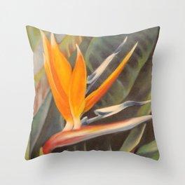 Bird of Paradise 3  Throw Pillow