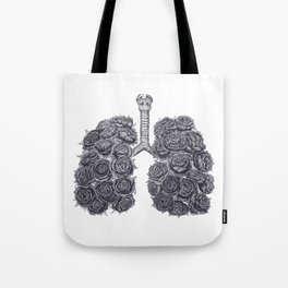 Lungs with peonies Tote Bag