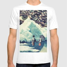 Surreal White MEDIUM Mens Fitted Tee
