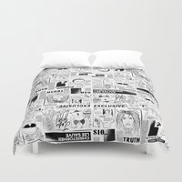scandal Duvet Covers featuring Scandal Pattern by CLSNYC