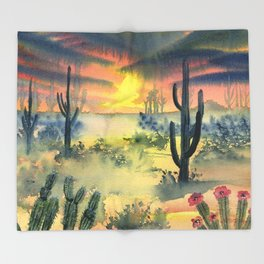 Desert Twilight Throw Blanket