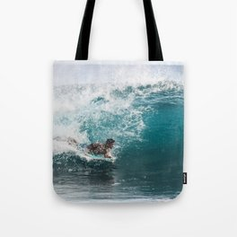 Chaos of Blue Tote Bag