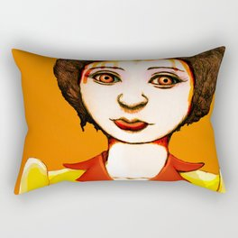 Paint me orange Rectangular Pillow