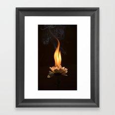 Soul burn Framed Art Print