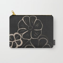 Light Sepia Flowers #1 #drawing #decor #art #society6 Carry-All Pouch
