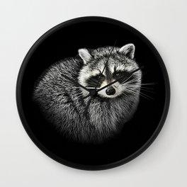 A Gentle Raccoon Wall Clock
