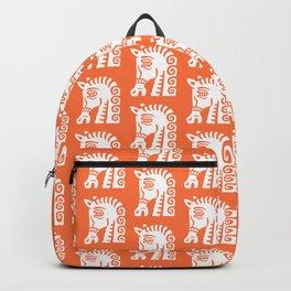 Mid Century Horse Pattern Orange Backpack