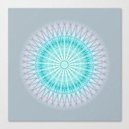 Turquoise Boho Mandala Canvas Print