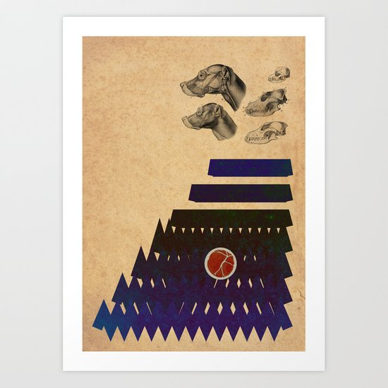 In the woods. Art Print