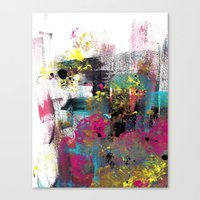 funky Canvas Prints featuring Funky by H-L-B