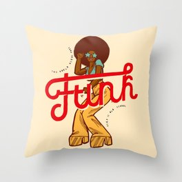 Funk Girl Throw Pillow