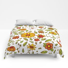 Spring Flitty Flowers Comforters