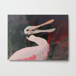Laughing spoonbill Metal Print