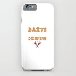 Darts With A Chance Of Drinking - Funny Dart iPhone Case