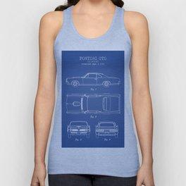 PONTIAC GTO patent print, pontiac gto poster, muscle car decor, pontiac gto blueprint Unisex Tank Top