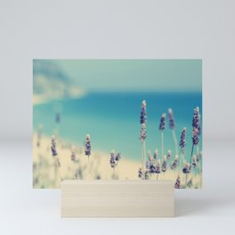 beach - lavender blues Mini Art Print