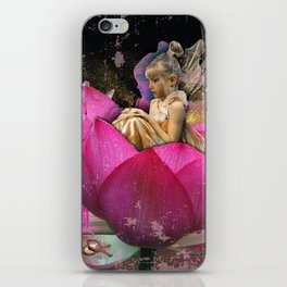 Fairy in a lotus iPhone Skin