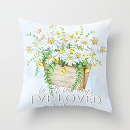 To All the Boys I've Loved Before by Jenny Han Throw Pillow