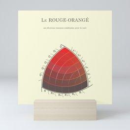 Le Rouge-Orangé (ses diverses nuances combinées avec le noir) Remake Mini Art Print