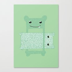 Eaten. Canvas Print
