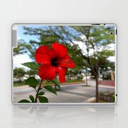 Red Flower Bloom Laptop & iPad Skin