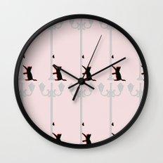 Kitty Cat III Wall Clock