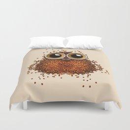 Coffe Owl 777 Duvet Cover
