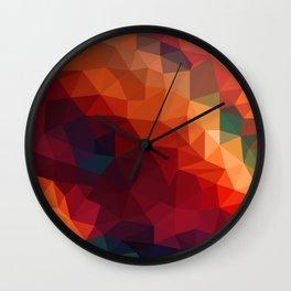 Burnt Jewel Low Poly Wall Clock