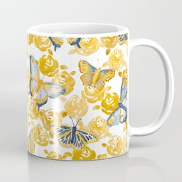 Butterflies 'n Roses Coffee Mug