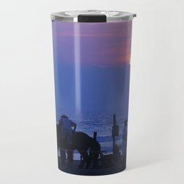 Horses on an Acapulco Beach Travel Mug