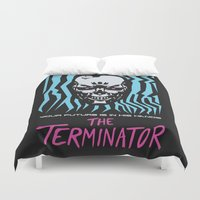 terminator Duvet Covers featuring The Terminator by Daniel Grushecky