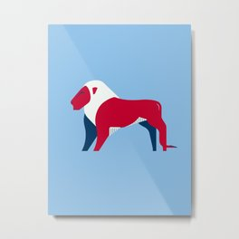 Lion - UK national symbol, flag colors Metal Print
