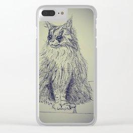 Icelandic Cat Clear iPhone Case