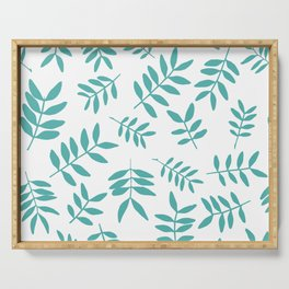 Background with branch silhouettes. Serving Tray