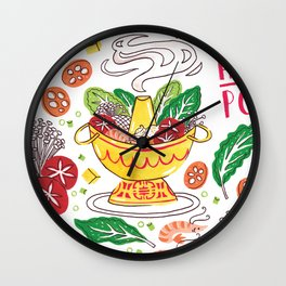 Hot Pot Shabu Shabu Soup Wall Clock