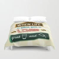 tequila Duvet Covers featuring TYPOGRAPHY TEQUILA by magdam