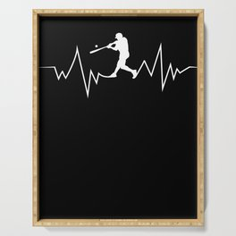 Baseball Heartbeat product Cool Gift for Sport Lovers Serving Tray