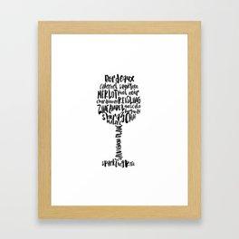 wines Framed Art Print