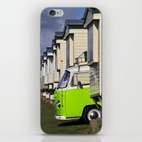 vw bus iPhone & iPod Skins featuring Vdub VW Bus by Rainer Steinke