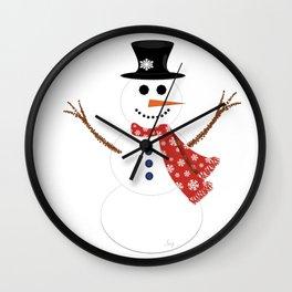 Mr. Snowman Wall Clock