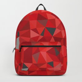 Red and gray triangular pattern - triangles mosaic Backpack