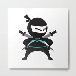 Ninja (with heart) Metal Print