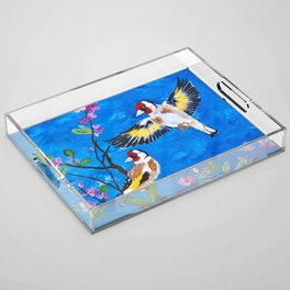 Goldfinches Acrylic Tray