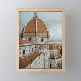 The Duomo Santa Maria del Fiore in Florence, Italy | Church cathedral in Firenze, Tuscany | Photogra Framed Mini Art Print