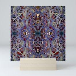 Skulls Purple Rouge Mini Art Print