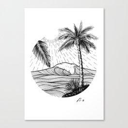 Tropical wave Canvas Print